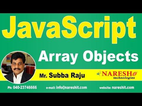 JavaScript Array Objects | JavaScript Tutorial | Mr. Subba Raju