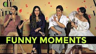Kareena Kapoor, Sonam Kapoor, Swara Bhaskar Funny Moments At Veere Di Wedding Trailer Launch