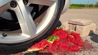 Crushing Crunchy & Soft Things by Car! - EXPERIMENT: COLOR TOWER VS CAR