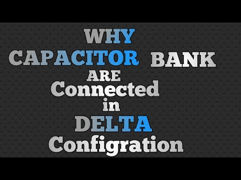 Why capacitor are connect in Delta?