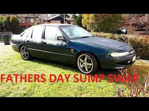 Fathers day VS Commodore oil sump swap over