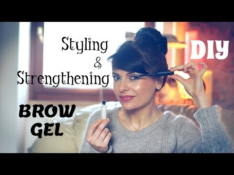DIY Eyebrow Styling & Strengthening Gel: beauty tip on how to grow & tame your eyebrows