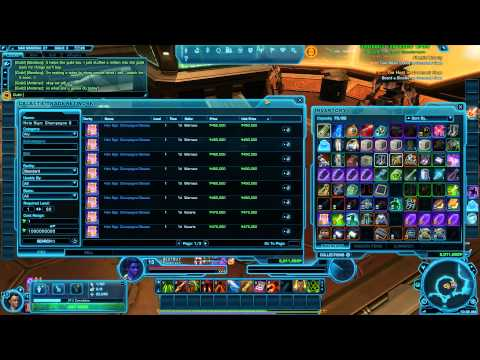 SWTOR: Making Millions of Credits and How to Sell on the GTN