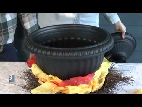 Fiery Cauldron Halloween DIY Decoration by Goodwill Home Decor Expert Merri Cvetan