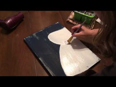 Decorative Snowman Painting