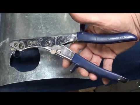 MACHINE SHOP TIPS #125 Shearing & Cutting Sheet Metal Part 2 of 2 tubalcain