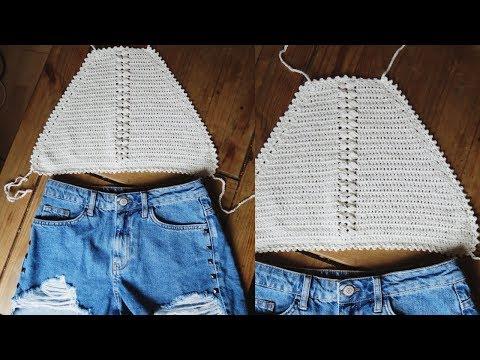Crochet halter top tutorial