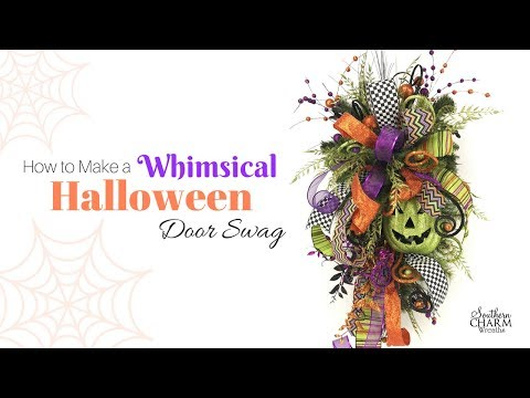 How to Make a Whimsical Halloween Door Swag