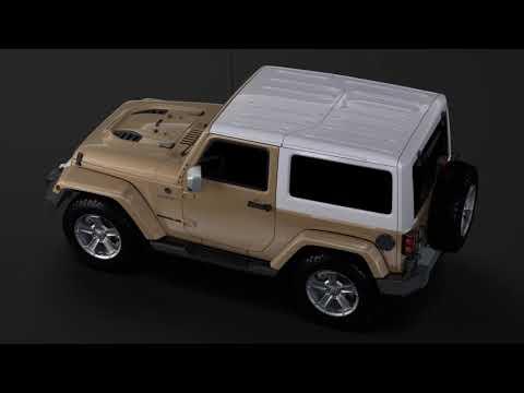 3D Model of Jeep Wrangler Chief JK 2017