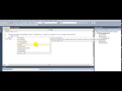 How to Create  a Crystal Report In VB.NET  2010