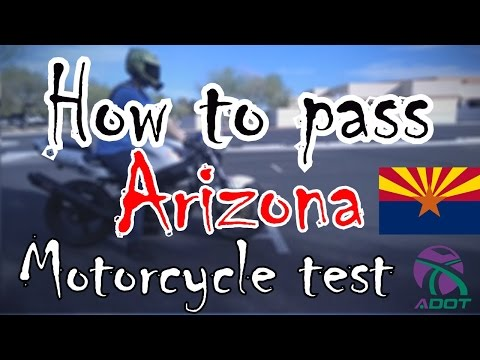 Arizona Motorcycle skills test - How to pass AZ motorcycle test