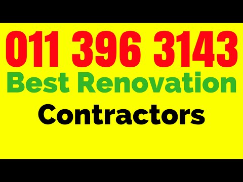 Best Building Contractors in Johannesburg South Africa | Call 011 396 3143