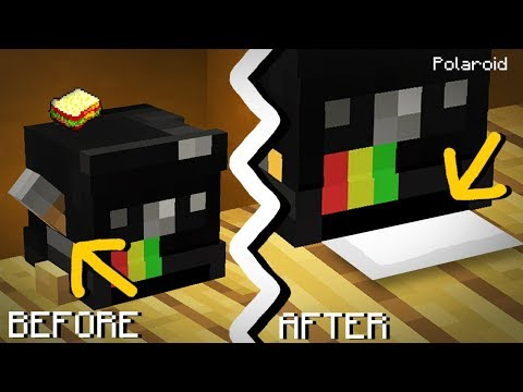 Minecraft | How to make a Working Polaroid Camera