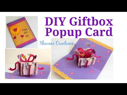 DIY Gift Box Popup Card/ How to make Box Popup card/ Easy Birthday Card