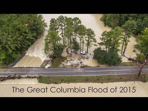 Aerial Footage of the Columbia, SC Flood 2015
