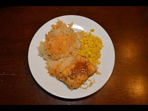 Super Quick Preseasoned Salmon and Rice in Just 8 minutes!