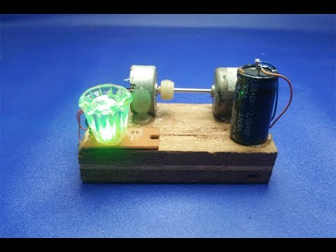 Free Energy Generator Using DC Motor - Science Experiment Project at home