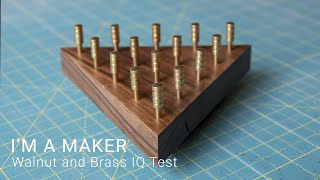 Walnut and Brass Triangle Puzzle | Maker