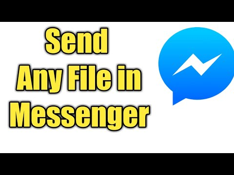 how to send any file in messenger | New Video | 2018 | Easy Methods