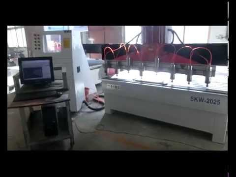 One Z axis multi spindles wood mdf cnc engraving cutting cnc router.mp4