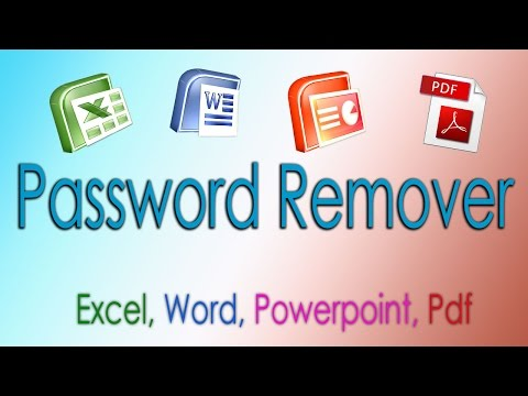 Unlock Password protected Excel Word Powerpoint Pdf files 2014