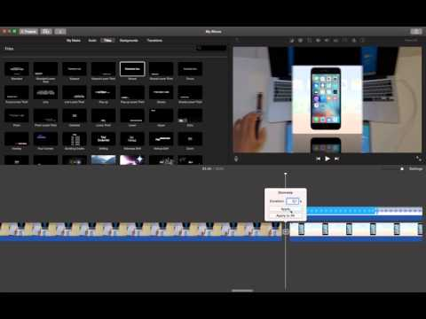 how to change duration of one transition in imovie?