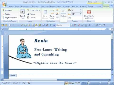 Applying Fancy Frames to Graphics in Word 2007