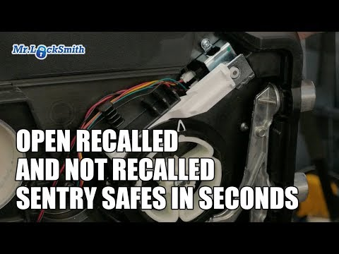 Open Recalled and Not Recalled Sentry Safes in Seconds | Mr. Locksmith Video