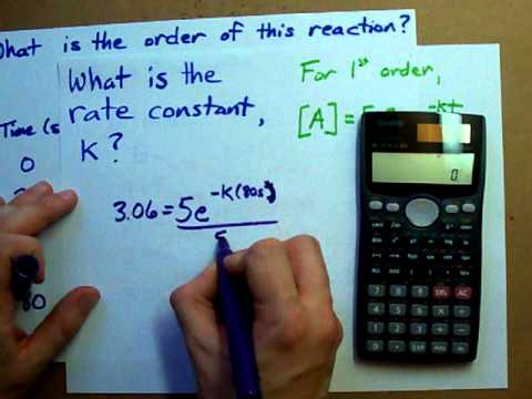 How to Find the Rate Constant of a Reaction (Given Table)