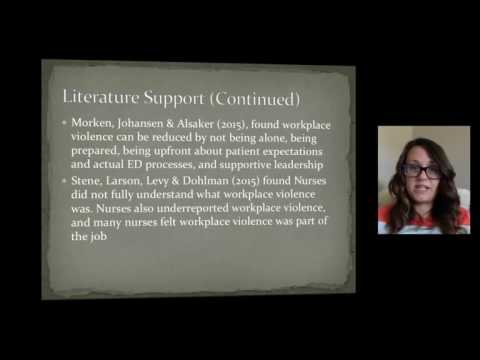 Workplace violence prevention project presentation