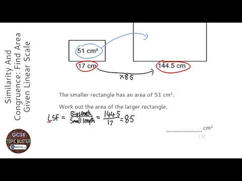 Similarity And Congruence: Find Area Given Linear Scale Factor (Find Larger) (Grade 7) - GCSE Maths
