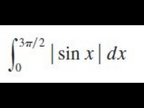 integrate abs(sin x) dx from 0 to 3pi/2