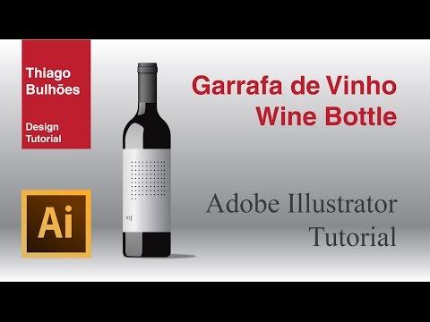 garrafa de vinho ( wine bottle ) tutorial adobe Illustrator