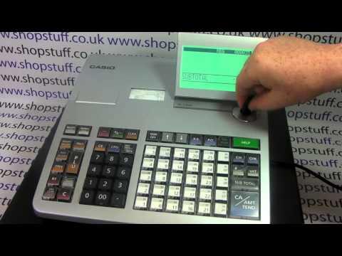 How To Program Tax / Vat Rates On The Casio SE-S3000 Cash Register