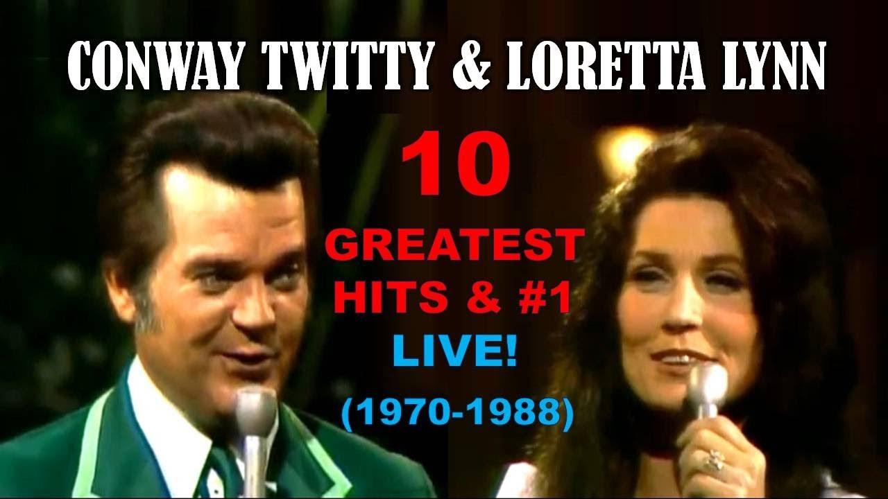 CONWAY TWITTY & LORETTA LYNN - 10 Greatest Hits & #1 Songs - LIVE! (1970-1988)