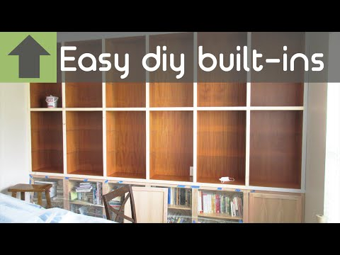 CHEAP AND EASY DIY BUILT-IN SHELVES!!