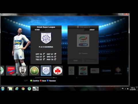 custom pro evolution soccer 2013 (edited leagues and tournaments)