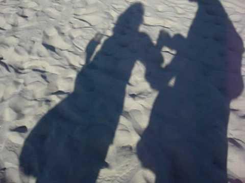 Walking from beach back to Hotel Del Coronado - San Diego - with Nana and my Mom