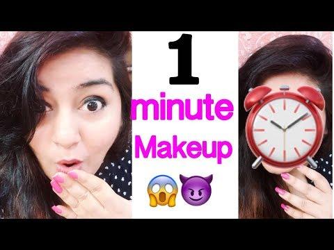 1 Minute Makeup Challenge   No Foundation Everyday Makeup   JSuper Kaur