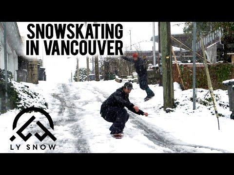 Snowskating in Vancouver