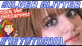 Silver Glitter Eye Makeup Tutorial! | Rock the Red Carpet Look!