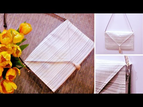 DIY Shoulder Bag Out of Table Runner * Easy * How to Make a Bag at Home