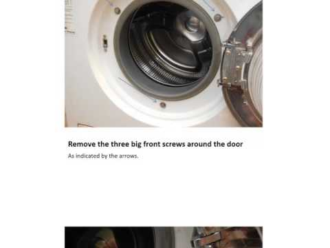 Miele W907 Washer Disassembling