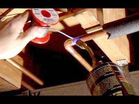 Moving a copper plumbing pipe