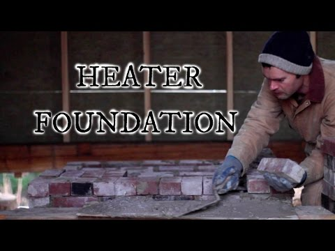 Our timber frame cabin part XV: MASONRY HEATER FOUNDATION