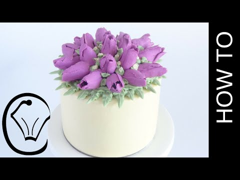 Buttercream Flower Tulip Cake How To by Cupcake Savvy's Kitchen