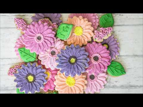 Gerber Daisy Flower Cookie Bouquet
