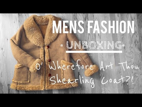 MENS FASHION• Unboxing • SHEARLING COAT • Chris Garceś