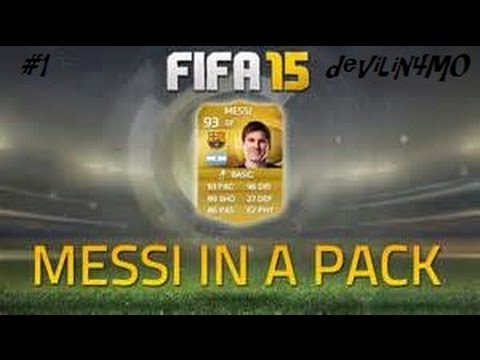 Messi in a pack ?! PACK OPENING fifa 15 android