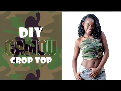 DIY Camouflage Crop Top